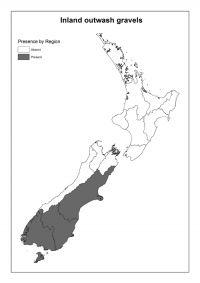 Inland outwash gravels: Presence by Region