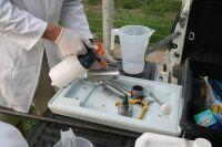 Sterilising soil corer