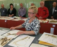 Allan Herbarium Manager Ines Schoenberger at the function to mark the $1.2m refurbishment of the facility in December 2012