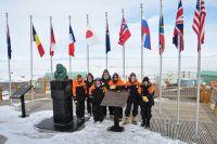 International flags, McMurdo Base, Antarctica (Richard Gordon)