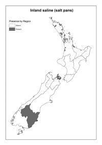 Inland saline (salt pans): Presence by Region