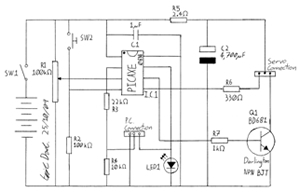 Schematic diagram of the time lapse camera controller