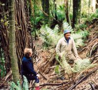 Rob Allen of Landcare Research and the Chair of Tūhoe Tuawhenua Trust, Tahae Doherty