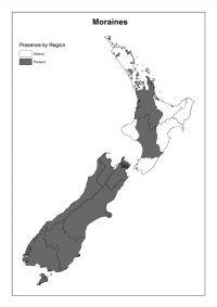 Moraines: Presence by Region