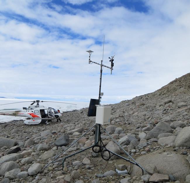 A climate station at Granite Harbour (image courtesy of Megan Balks, University of Waikato).
