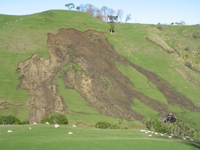 Shallow landslide
