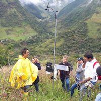 Rainfall recording site, Isabelilla subcatchment, Rio Palo near Tacueyo, Cauca, Colombia