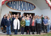 CIBR and local communities at hui in Kaikoura. Photo courtesy of the The Malborough Express.
