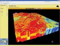 The Global Soil Map will produce a digital 3D map of the world's soils predicting soil attributes such as carbon and texture. This image shows how the variability of properties with depth can be displayed. Credit: CSIR.