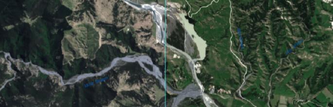 Kaikoura earthquake satellite imagery