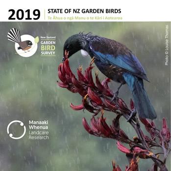 State of New Zealand Garden Birds 2019   Te āhua o ngā manu o te kāri i Aotearoa