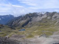 Alpine landscape on the Robert Ridge, Nelson Lakes National Park, where potential climate change effects on rat incursion will be studied