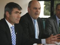 Hon. Nathan Guy and Hon. Steven Joyce at the launch of the Lincoln Hub