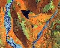 This is a zoom at full sampling of the ortho-rectified image. The area shown is Diamond Lake, just north of Lake Wakatipu