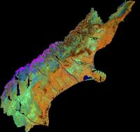 This image represents the flattened version of the Canterbury region