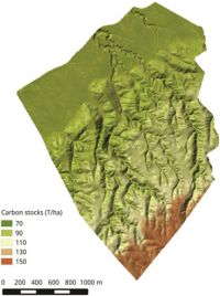 Mapping soil organic carbon stocks at the farm scale.