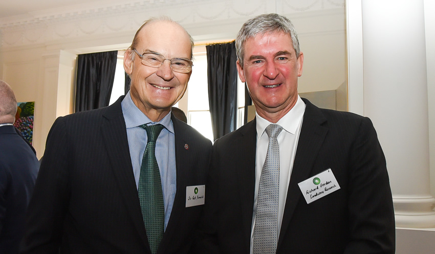 Sir Rob Fenwick (left) with Richard Gordon, July 2019.