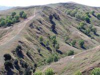 Extensive old landslide erosion at Te Whanga. Image - L Basher