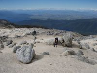 Granite gravel field, Mt Titiroa, eastern Fiordland (Peter Williams)