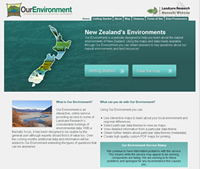 OurEnvironment homepage