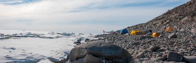 Campsite in Granite Harbour