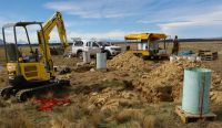 Soil cores being removed in the Mackenzie Basin