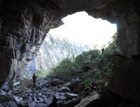 Entrance to the high altitude cave in the Kahurangi National Park