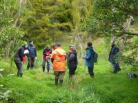 Bev Clarkson (blue parka; 2nd from right) leading a wetland delineation workshop.
