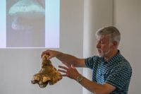 Dr Peter Buchanan presenting on fungi