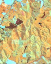 Multi-spectral Landsat image at 30-m pixel resolution